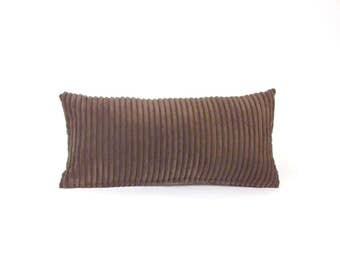 Corduroy Pillow ~ Brown Lumbar Pillow ~ Brown Toss Pillow ~ Small Brown Pillow ~ Brown Decorative Pillow ~ Child's Pillow ~ Nursery Pillow
