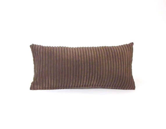 Brown Corduroy Throw Pillow : Corduroy Pillow Brown Lumbar Pillow Brown Toss Pillow