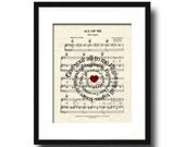All Of Me by John Legend Sprial Lyric and Mr and Mrs Sheet Music Art Print, First Dance Art, Names and Date, Custom Wedding & Anniversary