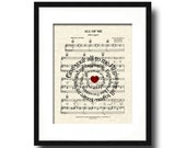 All Of Me by John Legend Sprial Lyric Sheet Music Art Print, Love Song Art, First Dance Art, Names and Date, Custom Wedding & Anniversary