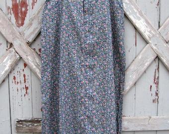 Liz Claiborne Lizwear - vintage 1990s low rise floral maxi skirt M L XL