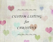 CUSTOM LISTING for CHRISTINA ~~ Sweet Baby Bunny Hair Clippies in Pink and White