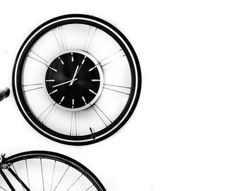 Bike Furniture Design - Bicycle Wheel Clock - Road Deluxe
