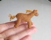 Tiny horse miniature felt stuffed animal with bendable legs