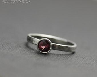 Rhodolite Sterling Silver Ring