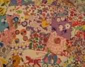 January Sale Shabby Chic Fabrics, Vintage  feedsack Packet, Feedsack  Novelty, Feedsack Scrap Sampler, Feed Sack Fabric, Feed Sack Vintage A