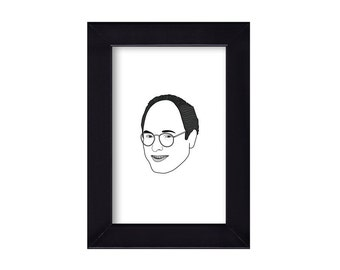 4 x 6 Framed George Costanza / Seinfeld portrait
