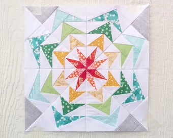 Paper Piecing Pattern - 80's Geese #250 - Quilt Pattern - 18 inch