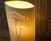SECONDS SALE! Cow Parsley lamp half price!
