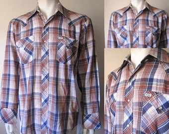 "Vintage 70s Long Sleeved Western Cowboy ""DUDE"" Shirt"