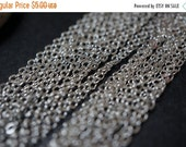 WINTER SALE 925 Sterling Silver Plated Rolo Cable Chains - 2mm x 2.5mm - 10 feet
