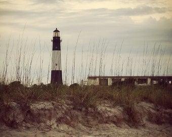 Photograph: Tybee Island Light House Nature Photography 5x7 Beach Print