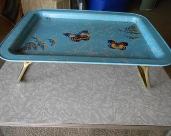 Vintage butterfly lap tray