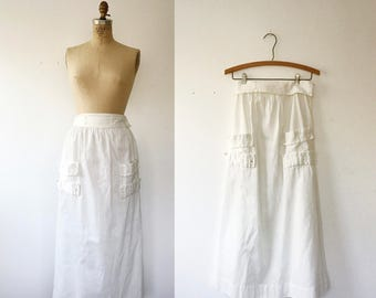 Edwardian skirt / antique cotton skirt / Boardwalk skirt