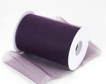 """PLUM TULLE - 6""""x100 Yards - 300 Feet - Diamond Net Tulle - Nylon Tulle - Wholesale Tulle - Tulle Fabric - Wedding Tulle - Tutu Tulle"""