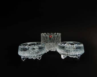 3 Iittala Ultima Thule Vintage Candle Holders Candlesticks MWT With Tag Label Finland Tapio Wirkkala Instant Collection