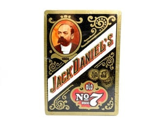 Vintage Jack Daniels Old No 7 Brand Sealed Deck of Playing Cards / Joker Cards / Paper Ephemera / Poker Cards / Advertising Deck / Mens Gift