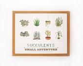 Succulents Cards Set