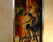 Vintage  Oil Painting Haitian Dance