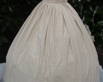 Dainty Ivory & Willow Apron Dress / Marie Antoinette/Colonial/Pompadour/Southern Belle Ball Gown Dress  - Lg/Med   FREE SHIPPING!