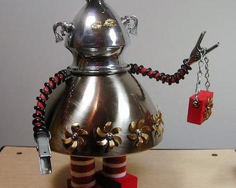TRIXIE Found Object  Robot Sculpture Assemblage