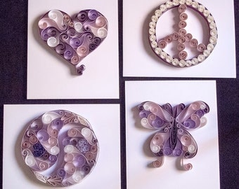Quilling Paper Art - The Harmony Collection – Love, Peace, Balance, Growth