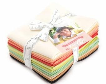 SUMMER SALE - Fig Tree - Bella Solids - Fat Quarter Bundle (12) - 9900ABFT - Moda Fabrics