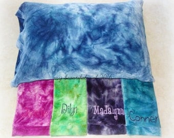 CUSTOM Standard Size Organic Bamboo Velour Pillowcase - You choose color and name