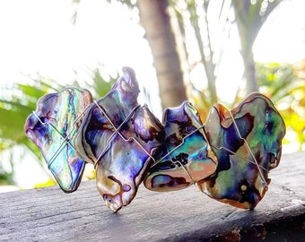 Paua Shell Barrette, Hair Clip, Resort Accessory, Abalone, New Zealand Paua, Wedding, Hair Accessory, Hair Decoration, Beach Barrette