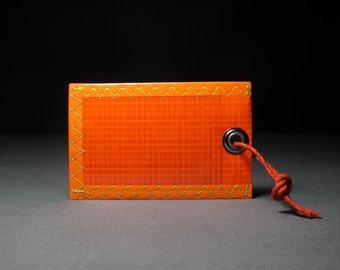 Neon Orange Luggage Tag - Rad & Rugged - Sailcloth - Vegan