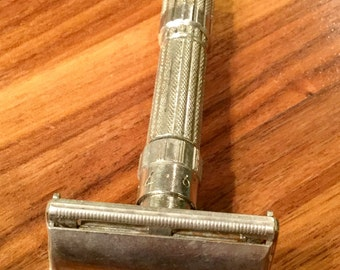 Vintage, Gillette Fatboy Razor,  Adjustable Razor, Safety Razor