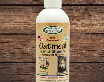 Organic Dog Oatmeal Shampoo 8oz - Best Oatmeal Shampoo on the Market!