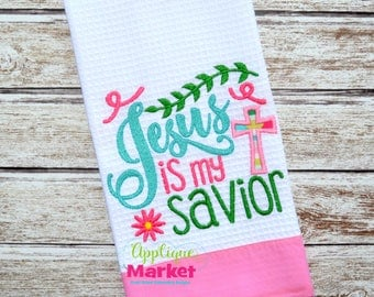 Machine Embroidery Design Embroidery Jesus is My Savior Applique INSTANT DOWNLOAD