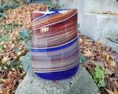Canyon Vase, Deep Blue wi...