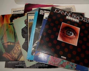 Lot of 17 Vintage Album Covers For Vinyl Records 14 Jazz 3 Rock / Covers Only NO RECORDS