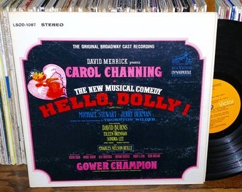 Hello Dolly Vintage Vinyl Broadway Musical Record