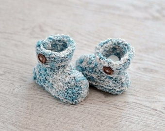0 - 3 Months Knitted Baby Bootees, Knitted Shoes, Baby Boots