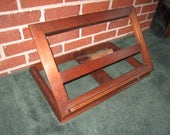 "Vintage Drexel Solid Walnut Large 20"" Standing Adjustable Easel Painting Display Stand No.2"
