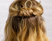 Small Brass Hair Pick