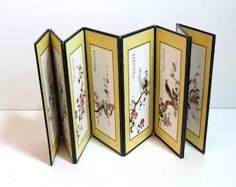 Oriental Paper Folding Tabletop Screen
