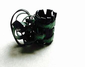 Metal woven ring