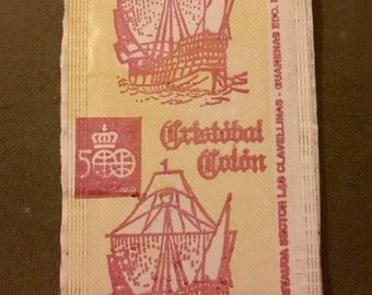 Unopened 1980s Christopher Columbus Card Pack