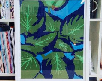 Planta Print // Colourful Print // Botanical close up // Botanical Print // Botanical Illustration