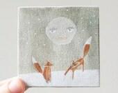 winter moon / original painting on canvas