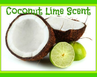 COCONUT LIME Scented Soy Wax Melts Tarts - Fresh Fruit - Citrus - Wickless Candle - Air Freshener - Highly Scented - Handmade In USA