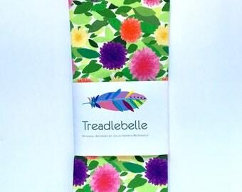 Dahlia Print Tea Towel