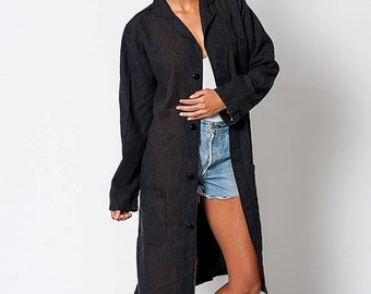 30% off SPRING SALE The Vintage Japanese Inspired Linen Robe