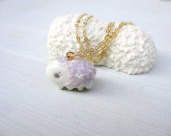 Petit Waterbear Pendant-lilac-shaggy