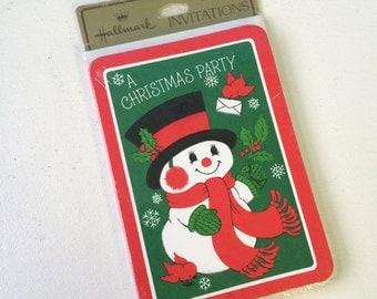 Hallmark Christmas Party Invitations, New Old Stock Party Invitations