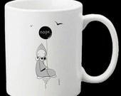 Nope Poppet Mug- - Art by Lisa Snellings